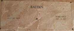 Margaret <I>Bordelon</I> Baudin
