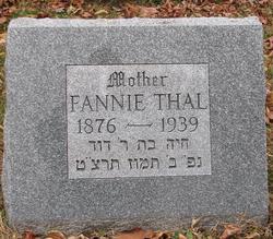 Fannie <I>Michelson</I> Thal