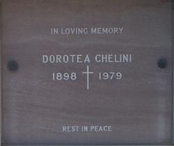 """Dorotea """"Dorothy"""" <I>Zampa</I> Chelini"""