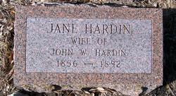 Jane Ann <I>Bowen</I> Hardin