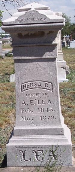 """Thersa A. """"Hersa"""" <I>Coberly</I> Lea"""