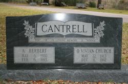 Opal Vivian <I>Church</I> Cantrell