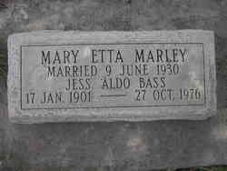 Mary Etta <I>Marley</I> Bass