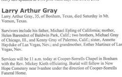 Larry Arthur Gray