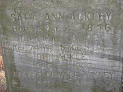 Sarah Ann <I>Bowden</I> Ackley