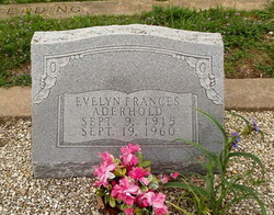 Evelyn Frances Ruth <I>Anderson</I> Aderhold