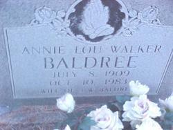 Annie Lou <I>Walker</I> Baldree