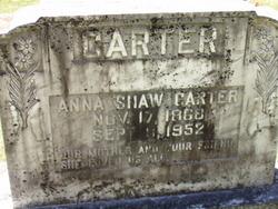 Anna <I>Shaw</I> Carter