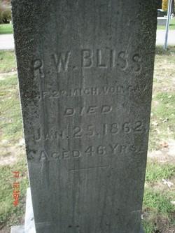 Pvt Rufus W Bliss