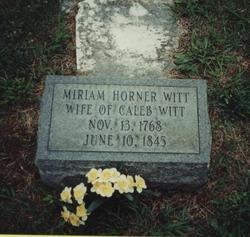 Miriam Allred <I>Horner</I> Witt