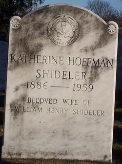 Katherine <I>Hoffman</I> Shideler