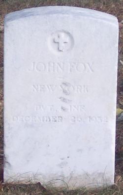 Pvt John Fox