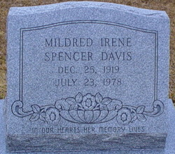 Mildred Irene <I>Spencer</I> Davis