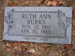 Ruth Ann <I>Holley</I> Burks