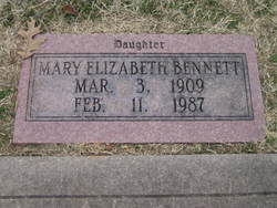 Mary Elizabeth <I>Jones</I> Bennett
