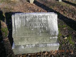 "Mary Pethena ""Mamie"" <I>Anthony</I> Baker"