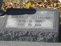Tommie Edith <I>Bonsall</I> Alexander