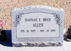 Hannah Ellen <I>Bryce</I> Allen