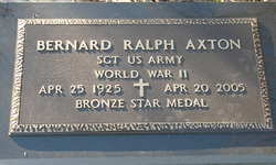 Sgt Bernard Ralph Axton