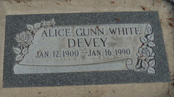 Alice <I>Gunn</I> Devey