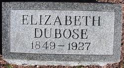 Elizabeth <I>Bennett</I> DuBose