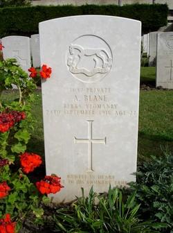 Private Alfred Blane