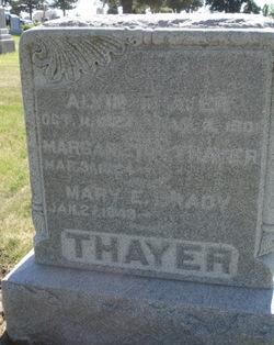 Mary E <I>Thayer</I> Brady