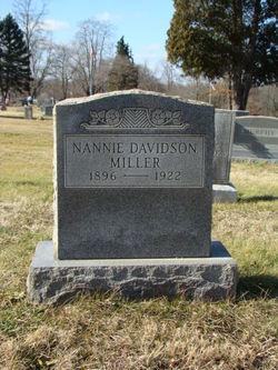 """Nancy B """"Nannie"""" <I>Davidson</I> Miller"""