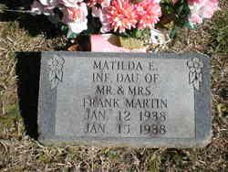 Matilda E Martin