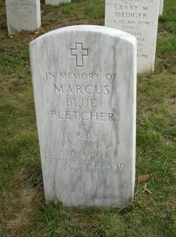 Lieut Marcus Blue Pletcher