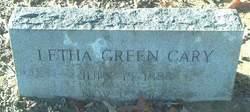Letha <I>Green</I> Cary