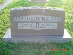 Martha Jane <I>Ottinger</I> Giddens