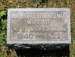Abbie J. <I>Bellows</I> Ackerman