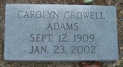 Carolyn <I>Crowell</I> Adams