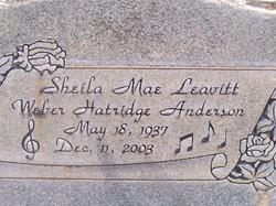 Sheila Mae <I>Leavitt</I> Anderson