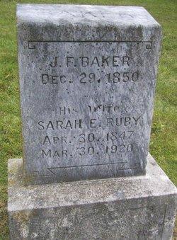 Sarah Ellen <I>Ruby</I> Baker
