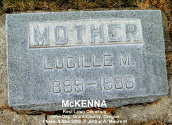 """Lucille May """"Lucy"""" <I>Moore</I> McKenna"""