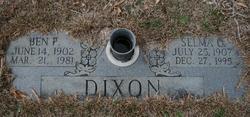 Benjamin Franklin Dixon, Sr