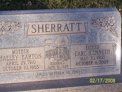 Halley <I>Barton</I> Sherratt