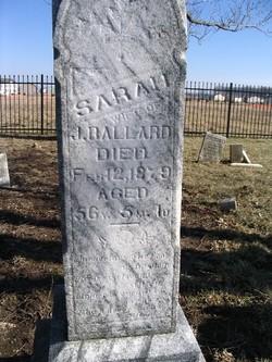 Sarah <I>Corbaly</I> Ballard