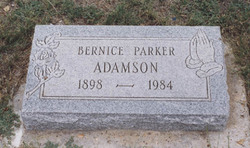 Mattie Bernice <I>Parker</I> Adamson