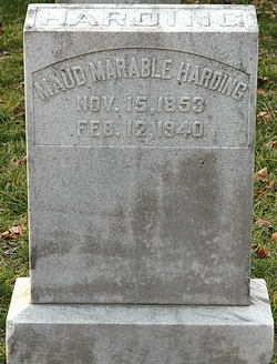 Maud <I>Marable</I> Harding