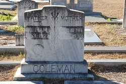 Annie Belle <I>Rogers</I> Coleman