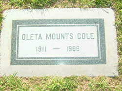 Oleta <I>Mounts</I> Cole