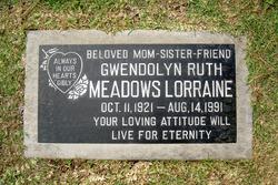 Gwendolyn Ruth <I>Meadows</I> Lorraine
