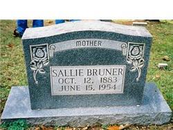 """Sarah Tennessee """"Sallie"""" <I>Overbey</I> Bruner"""