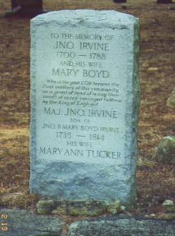 """John """"Jno"""" Irvine"""