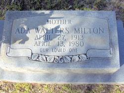 Ada <I>Walters</I> Milton