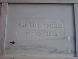 Ann Lois <I>Traudt</I> Croxen