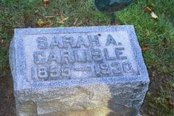 Sarah Ann <I>Camfield</I> Carlisle